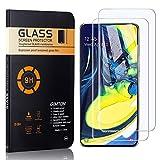 GIMTON Vetro Temperato per Galaxy A80, Nessuna Bolla Pellicola Protettiva in Vetro Temperato per Samsung Galaxy A80, Anti Impronte, Anti Graffio, 2 Pezzi