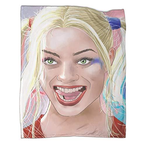 Xaviera Doherty Harley Quinn Movie Suicide Squad beliebte Decken, 130 x 180 cm, weiche und bequeme Bettdecke, Kinderbettwäsche