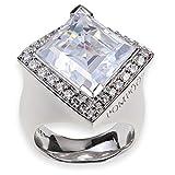 Pompöös Harald Glöckler Ring für Frauen Silber 925 rhodiniert Zirkonia weiß Gr. 55