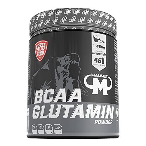Mammut Nutrition BCAA Glutamin Powder, Grapefruit, 1er Pack (1 x 450 g)
