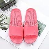 Chanclas de Playa y Piscina para Unisex Suave,Zapatillas de baño Impermeables, Sandalias de Interior Antideslizantes-Rojo 6_36-37,Mujer Hombre Zapatos de baño