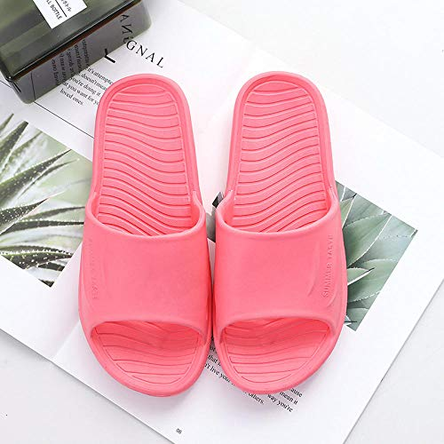 MLLM Zapatos de Playa y Piscina,Zapatillas de baño de Hotel;Caucho Antideslizante-Rojo_35-36,Niño Niña Zapatos de Playa y Piscina