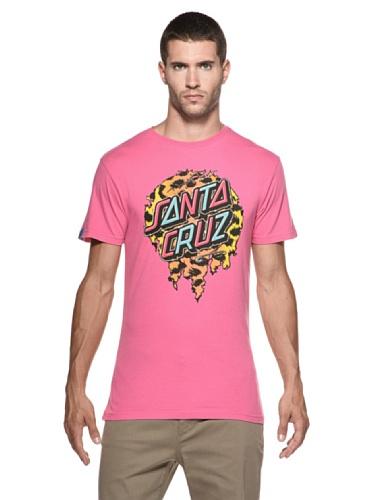 SANTA CRUZ Leopard Dot t-Shirt Rose