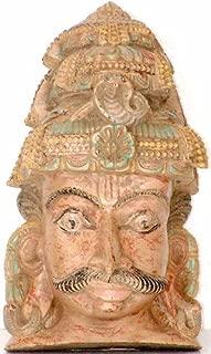 Virabhadra - South Indian Temple Wood Carving - Artist: R. Chellappan