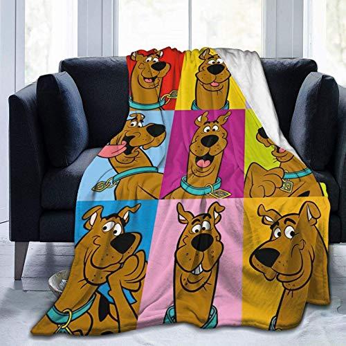 Scoo-by D-oo - Manta de felpa de microforro polar para mujer, hombre, niños, niñas, para silla, sofá, cama, coche, dormitorio, hogar, oficina, regalo ligero de 152 x 127 cm