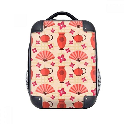 DIYthinker Japan Vase Teekanne Fan Sakura Hard Case Schulter Kinder Rucksack Geschenk 15