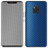 atFoliX Skin Compatibile con Huawei Mate 20 PRO, Sticker Pelle (FX-Carbon-Blue), Struttura in Carbonio