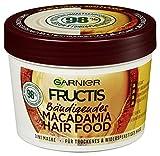 Garnier Fructis Macadamia Hair Food, sin silicona, sensación natural, 390 ml