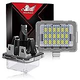 WinPower LED Éclairage plaque immatriculation auto ampoules super brillant CanBus Pas d'erreur 6000K xénon blanc froid 18 SMD Feux arrière pour 2007-2011 W204 (5D)/W212/W216/W221/W207, 2 Pièces