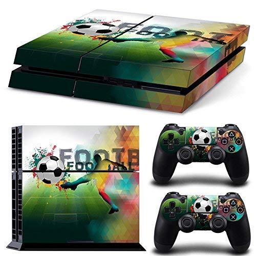 46 North Design Playstation 4 PS4 Folie Skin Sticker Konsole FootBall aus Vinyl-Folie Aufkleber Und 2 x Controller folie