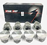 Speed Pro/TRW 1966-69 Chevy 427 425/435 HP Forged L2268NF Dome Coated Pistons & Rings Set. (.030' Bore 4.280')