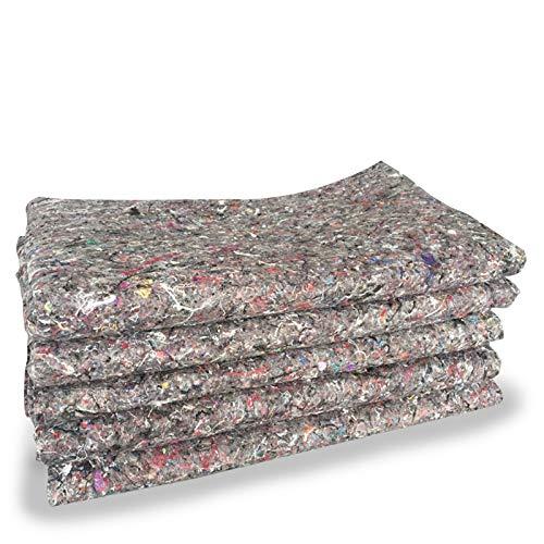 10x Packdecken Möbelpackdecken ca 300g/m² - grau, 150x200cm | FETEX Made in EU | Strapazierfähige Umzugsdecken Möbeldecken Recycling-Material Transport Decken Allzweckdecken