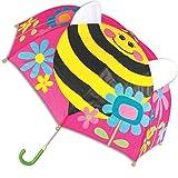Stephen Joseph Little Girl's Pop Up Umbrella, Accessory, Beet, No Size
