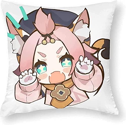 40cm Diona Genshin Impact Muñeca de Peluche, Anime Juego Hugging Pillow Caracteres Dibujos Animados Relleno Suave Muñeco de Peluche Regalos para Fanáticos de Juegos