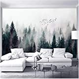 Xbwy 装飾壁画 現代の霧の森の写真の壁紙3D雲フライヤー壁画リビングルームのベッドルーム北欧スタイルの家の装飾-250X175Cm