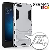 German Tech Cool Shield - Funda híbrida para Xiaomi Mi6 Plus, Color Plata