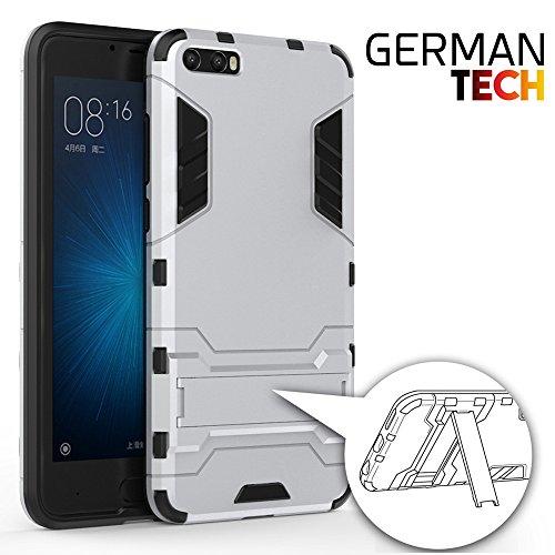 German Tech Cool Shield - Funda híbrida para Xiaomi Mi6 Plus, Color Plata