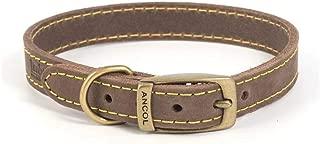 Ancol Timberwolf Leather Collar