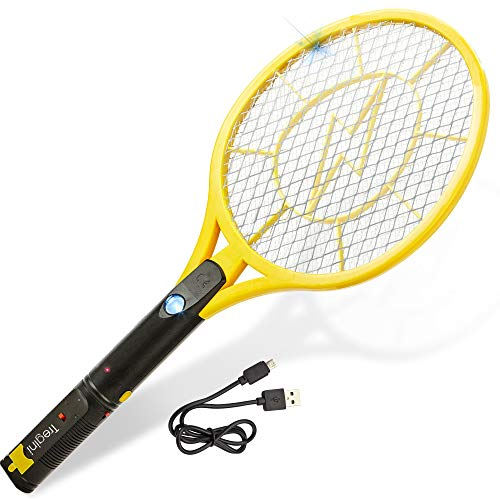 Electric Fly Swatter - Large Rechargeable Bug...