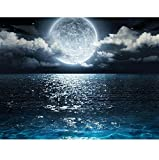 Jigsaw Puzzle 1000 Piece DIY Landscape Night Picture Moon Sunset Decor Home Classic Puzzle 3D Puzzle DIY Kit Wooden Toy Unique Gift Home Decor