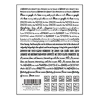 TSUMEKIRA(ツメキラ) ネイルシール JUNXプロデュース2 Inspirational quotes black NN-JUX-103 マルチカラー 1枚