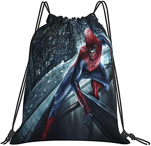 NIUPEE Mochila de viaje con cordón para gimnasio, diseño de Spiderman para portátil, bolsa de trabajo, mochila de negocios, resistente al agua, regalo para hombres y mujeres