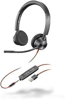 Plantronics Blackwire C3325 - Auriculares estéreo con Conector USB-A y Brazo Flexible para micrófono, Color Negro