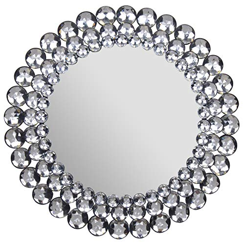 Everly Hart Collection Circle Jewel Beaded Mirrors, 17