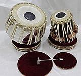Shri Chamunda Musical Handmade Stainless Steel Tabla Jodi set With Bag,Gaddiset,Hammer And pvc Khitti