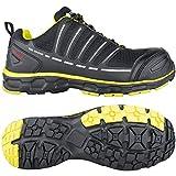 Toe Guard tg8051042Sprinter–Zapatos de seguridad S3ESD SRC talla 42NEGRO/limón verde