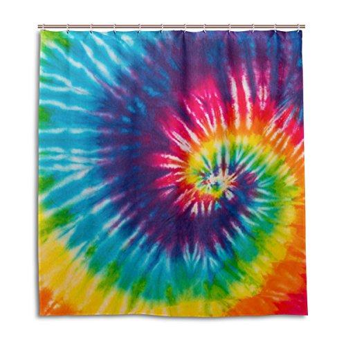 MyDaily Batik-Duschvorhang, Bedruckt, 167,6 x 182,9 cm, schimmelresistent & wasserdicht, Polyester-Dekoration für das Badezimmer