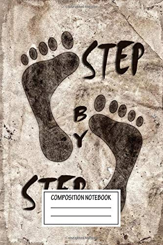 Composition Notebook: Text Art Step Text Art Wide Ruled Note Book, Diary, Planner, Journal for Writing