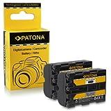 2x Batería NP-FM500H para Sony Alpha 57 SLT-A57 | 58 SLT-A58 | 65 SLT-A65 | 77 SLT-A77 | 99 SLT-A99 | DSLR-A200 | DSLR-A300 | DSLR-A350 | DSLR-A450 | DSLR-A500 | DSLR-A550 | DSLR-A560 | DSLR-A580 | DSLR-A700 | DSLR-A850 | DSLR-A900