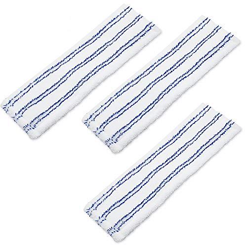 HAPPY FINDING 3 Stc Bodenwischer, Mikrofaser Wischbezug Ideal für Parkett, Laminat, Fliesen UVM