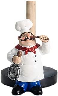 Chef Style Paper Towel Holder, Resin Crafts Display For Kitchen Cafe Western Restaurant Cake Shop Dessert Shop.