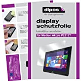 dipos I 2X Schutzfolie klar kompatibel mit Medion Akoya P2212T / P2211T Folie Bildschirmschutzfolie