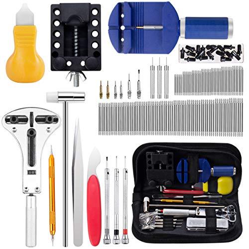 Uhrenwerkzeug Set, Cadrim 147tlg Uhrmacherwerkzeug Uhr Werkzeug Watch Tools Akku-Ersatzwerkzeug-Kit für Uhren mit Tragetasche