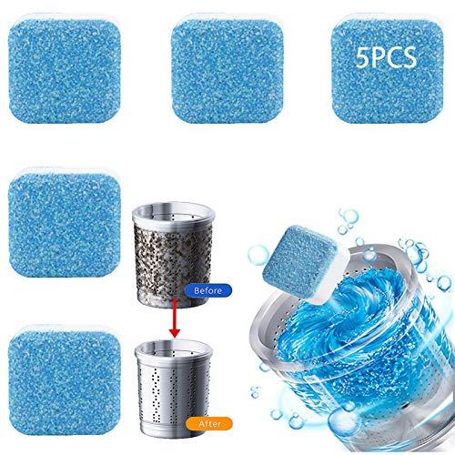 5 Unids Lavadora Profesional Tableta de Limpieza Limpiador Limpiador para Lavadoras Quitamanchas Profundo | Elimina Mal Olor, Descalcificador de Lavavajillas