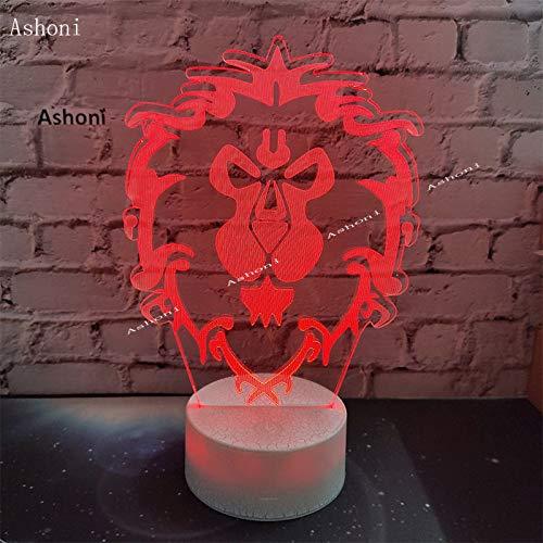 yuandp 3D LED-licht 7 kleuren Alliance Tribal Sign Nachtlampje USB decoratieve tafellamp vrienden en kinderen geschenken