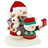 "Hallmark Cozy Christmas Selfie Techno Snowman 2020 Singing Stuffed Animal with Light and Motion, 9.5"""