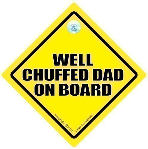 Bien contentos Dad diseño con texto en inglés de coche con ventosa...