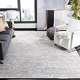 Safavieh Dream Collection DRM500A Modern Distressed Premium Viscose Area Rug, 8' x 10', Ivory / Grey
