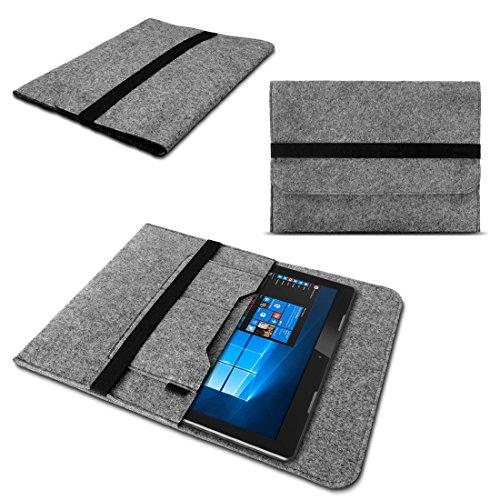 Sleeve Tasche für TrekStor SurfTab Twin 11.6 Hülle Grau Notebook Filz Cover Case