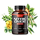 Nitric Oxide Booster by Snap Supplements - Pre Workout, Muscle Builder - L Arginine, L Citrulline 1500mg Formula, Tribulus Extract & Panax Ginseng, Strength & Endurance, - 60 Capsules