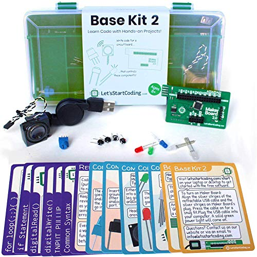 Base Kit 2 for Boys and Girls 8,9,10,11,12 to Learn Computer Programming and Circuits - Over 50 Free Online Projects to Teach S.T.E.A.M. Skills