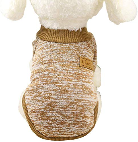 Ducomi Classic sweatshirt met mouwen, elastische hals, van zacht katoen-vezel, voor honden en katten, verkrijgbaar in alle maten en verschillende kleuren, XXL, Mosterd