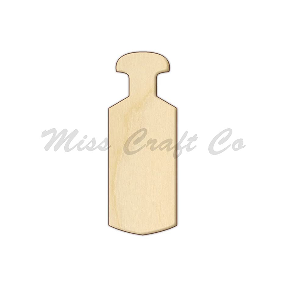 Greek Paddle Wood Shape Cutout, Wood Craft Shape, Unfinished Wood, DIY Project. All Sizes Available, Small to Big. Made in the USA. 10 X 3.7 INCHES
