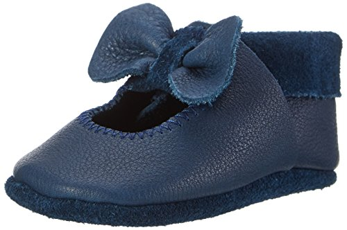 Pololo Unisex-Kinder Ballerina Krabbel- & Hausschuhe, Blau (Tobago 716), 18/19 EU