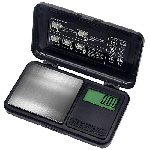 Digital Pocket Scale500g by 001gDigital Grams Scale Food Scale Jewelry Scale Black Kitchen Scale 500g