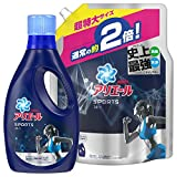 【まとめ買い】アリエール 液体 プラチナスポーツ 洗濯洗剤 本体 750g + 詰め替え 超特大 1.34kg